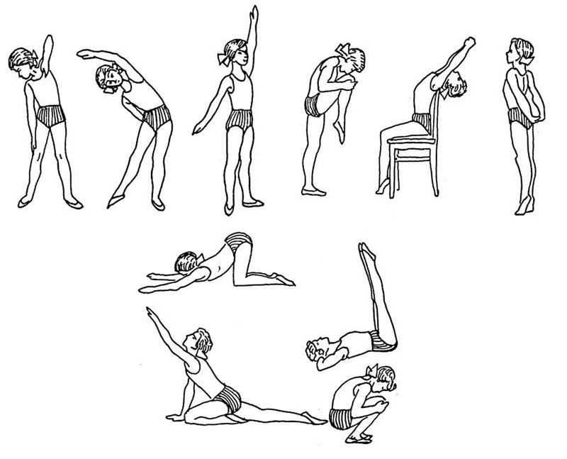Гимнастика для искривления осанки